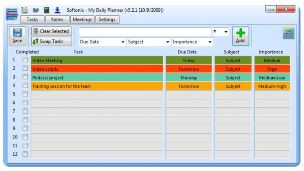 application to manage tasks and to do daily