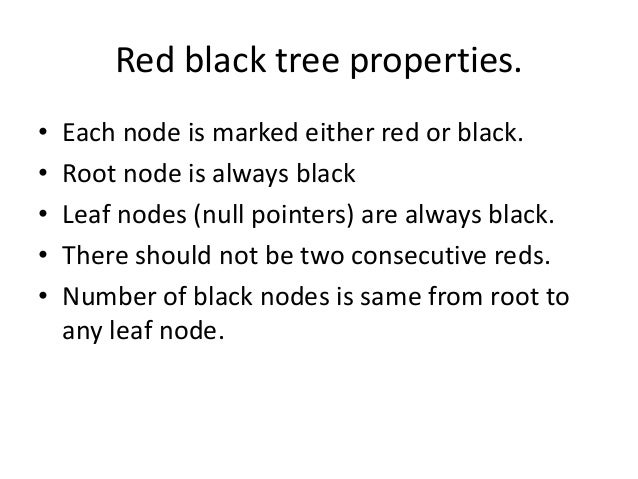 application of red black tree