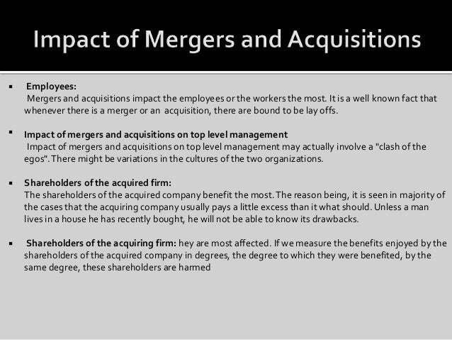 impact of mergers and acquisitions on employees pdf