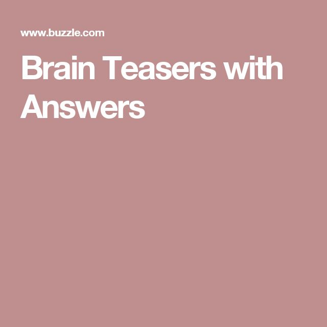 brain teasers riddles with answers pdf