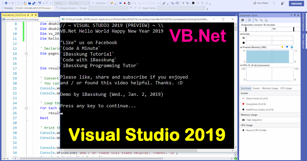 vb net tutorial console application