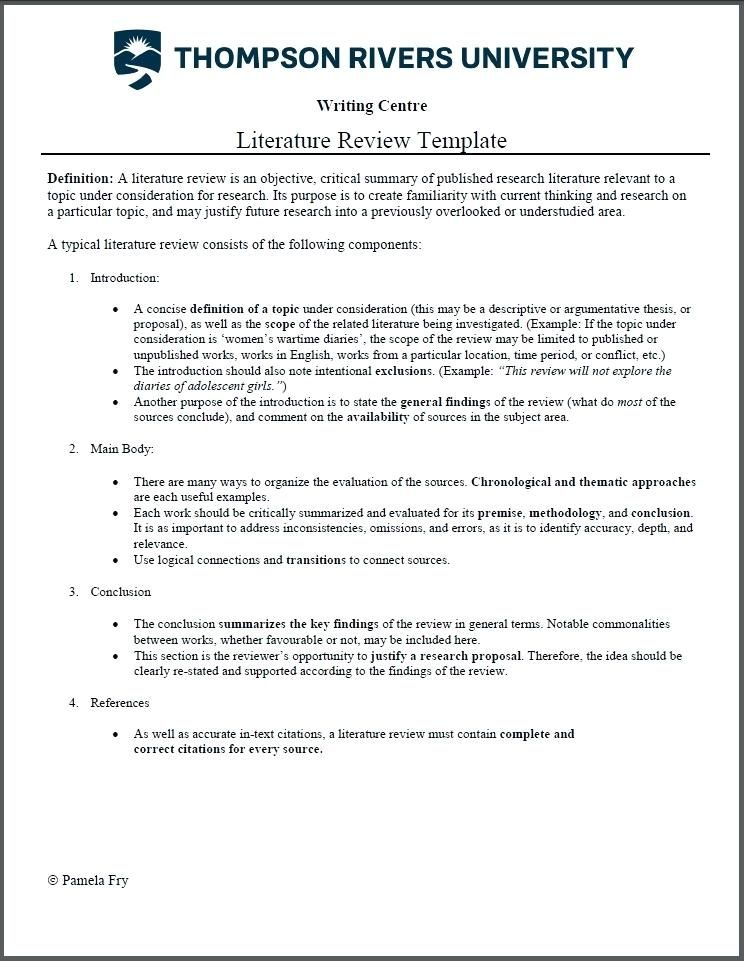 apa literature review example pdf