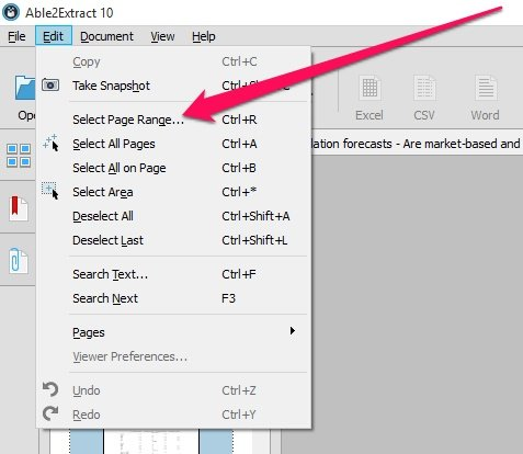 how to pick one page from a pdf file