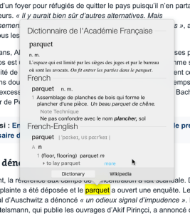 office mac french language dictionary
