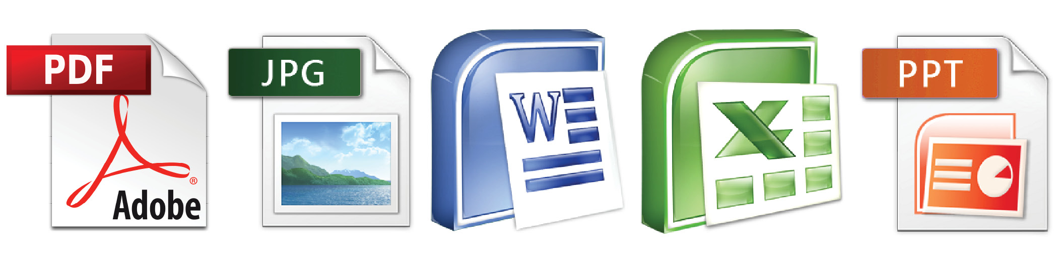 pdf learning word excel ppt