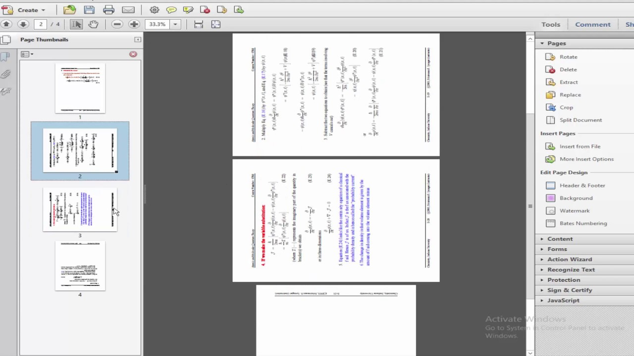 how to rotate pdf and save acrobat pro