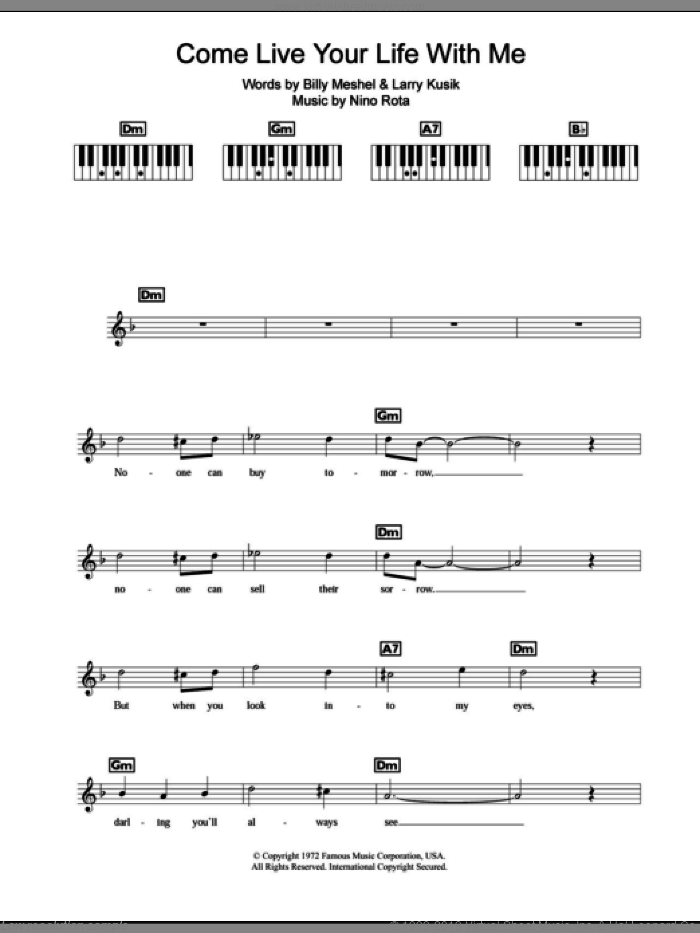 the godfather valse main piano sheet pdf