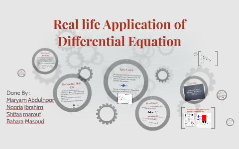 application of differential equation in biology