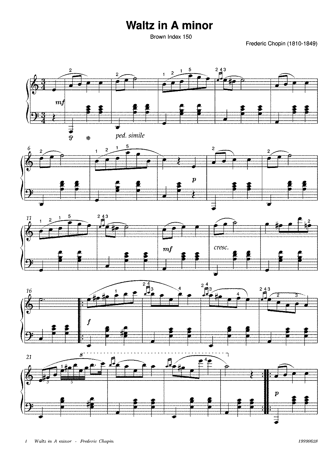 chopin spring waltz partition piano pdf