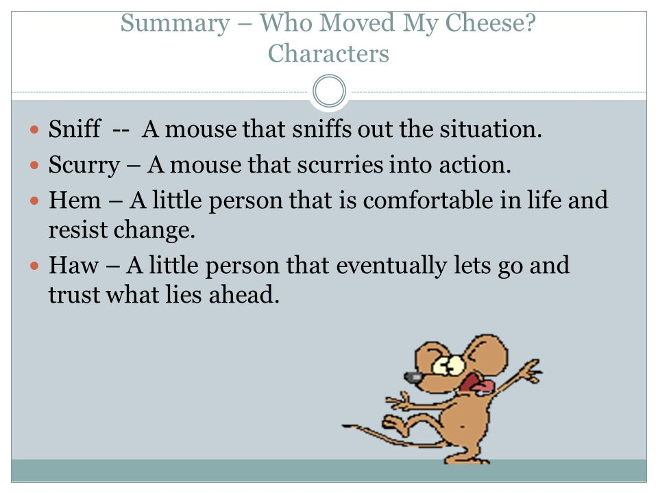 dr spencer johnson who moved my cheese pdf