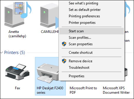 how to scan to pdf windows 10
