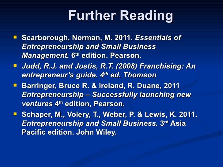 essentials of entrepreneurship and small business management 6th edition pdf