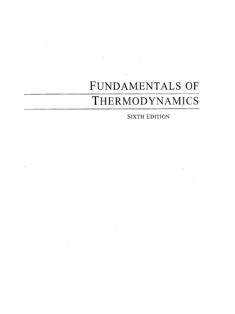 fundamentals of thermodynamics 6th edition pdf